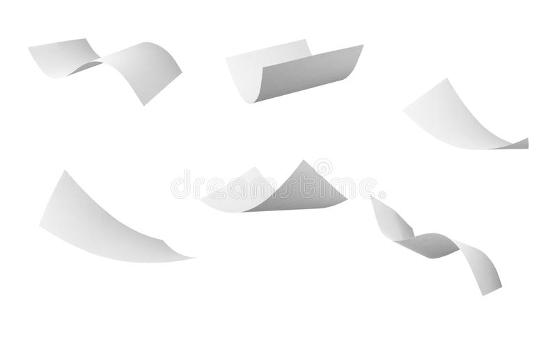 Blank curl paper flying in wind royalty free illustration