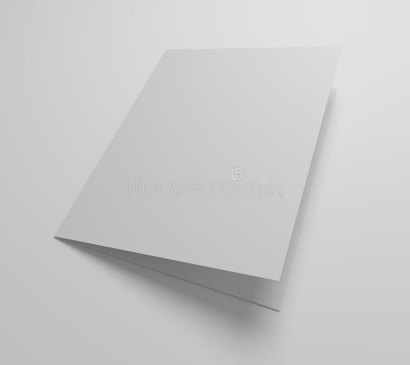 Download Blank 3d Illustration Greeting Card Mockup Stock Illustration    Illustration Of Open, Information: