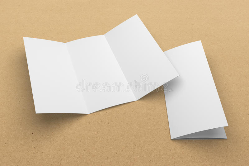 Blank D Rendering Trifold Brochure Mockup With Clipping Path On - 3d brochure template