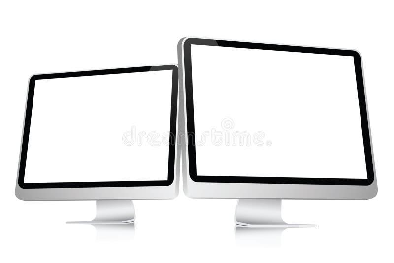 blank datorskärm royaltyfri illustrationer