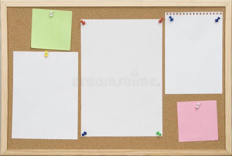 blank deski karty cork urzędu obrazy stock