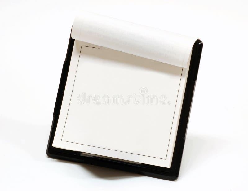 Blank desktop calendar stock photography