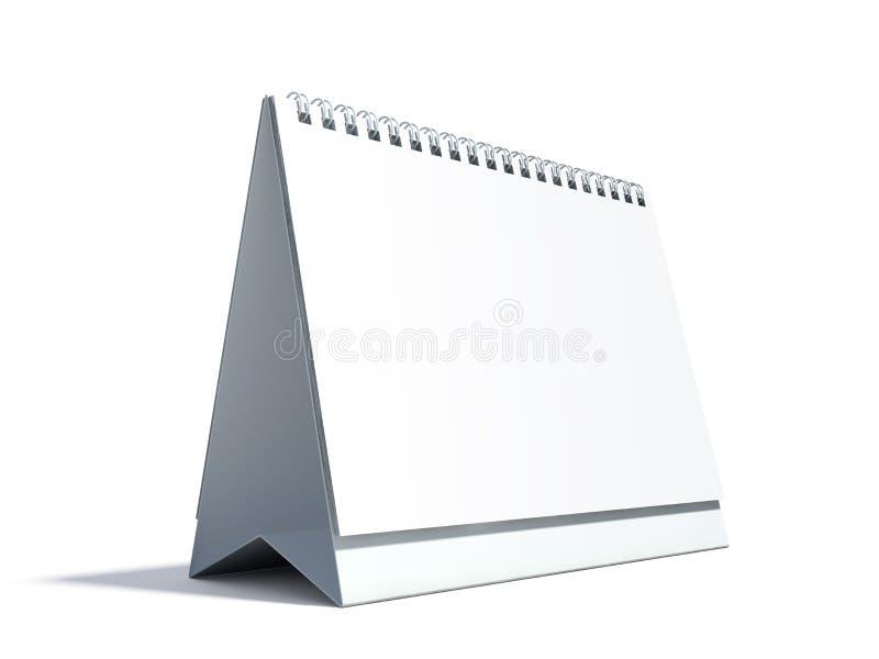 Blank desktop calendar vector illustration
