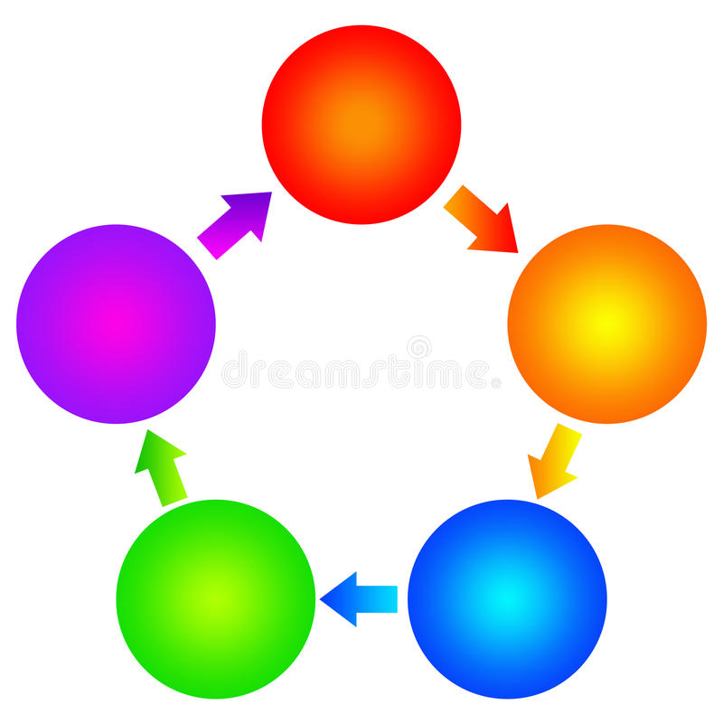 Blank diagram. With copyspace provided inside the colorful circles vector illustration