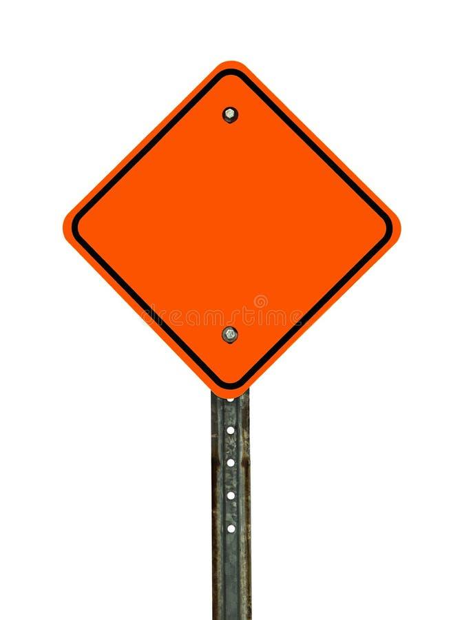 Blank Diamond Construction Sign royalty free stock photo
