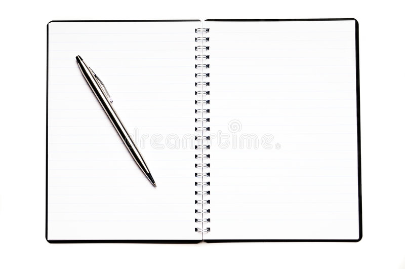 Download Blank diary stock image. Image of empty, ring, paper, isolated - 7886217