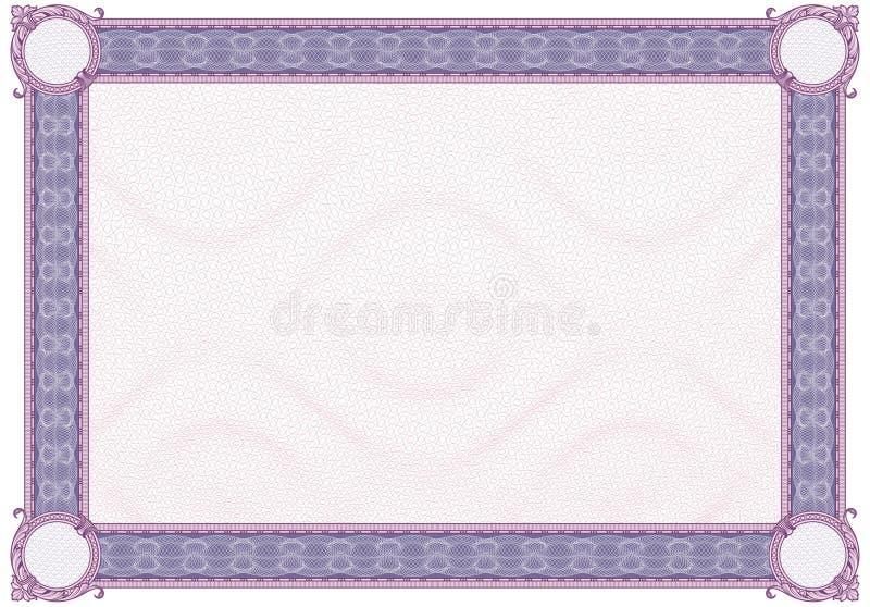 Blank Diploma or Certificate stock illustration