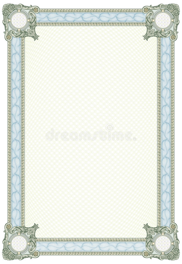 Blank Diploma or Certificate royalty free illustration