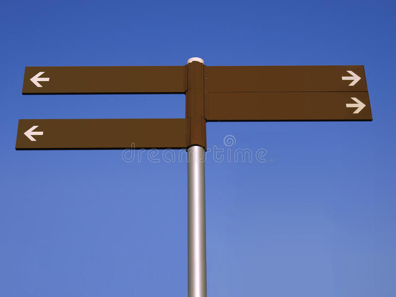 Download Blank Direction Signpost Royalty Free Stock Photos - Image: 10993188