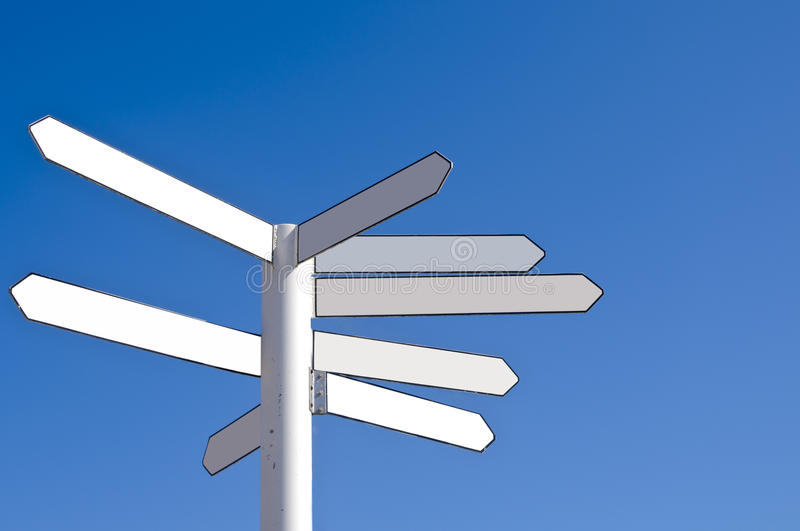 Blank direction signpost royalty free stock image