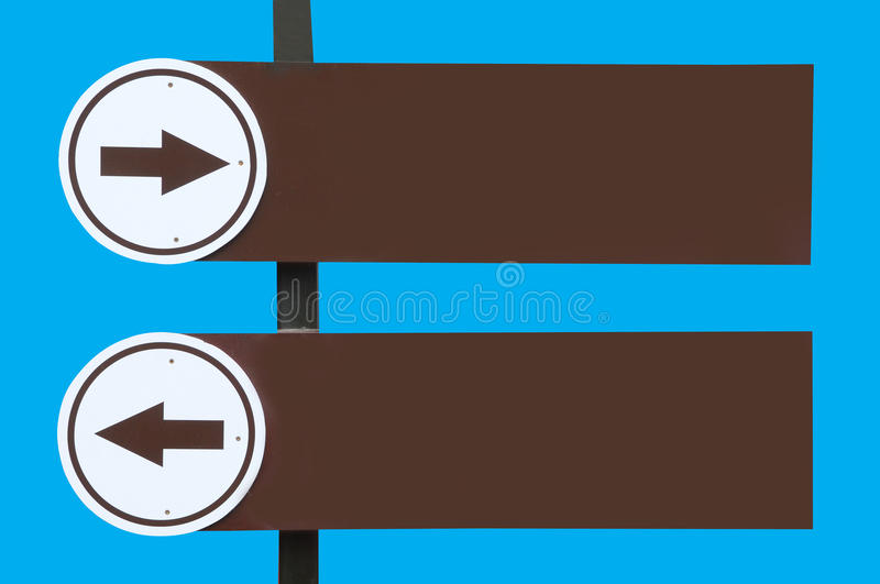 Blank Directional Arrow Sign Stock Images