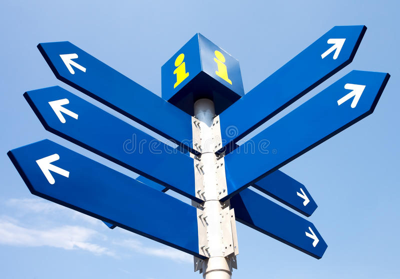 Download Blank Directional Road Signs Stock Photo - Image: 26785344