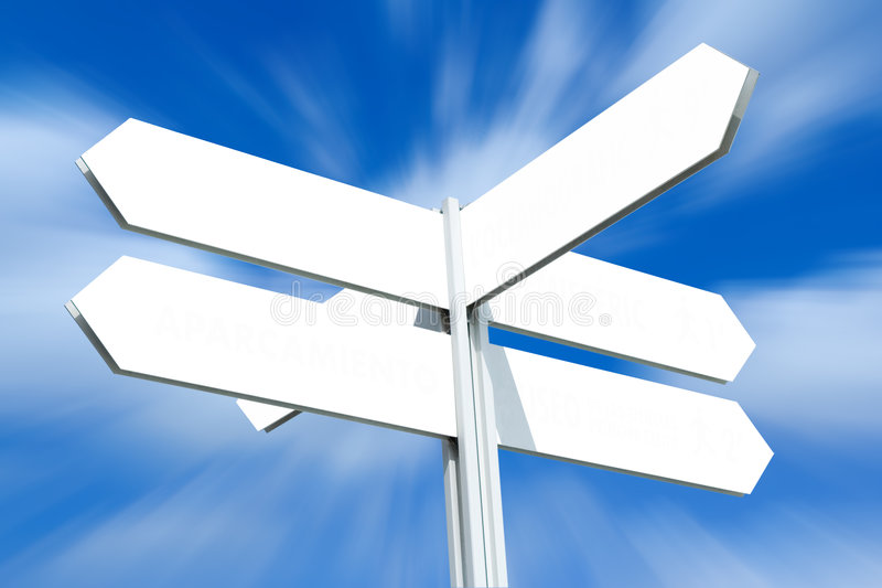 Download Blank Directional Sign Post Stock Image - Image: 6677451
