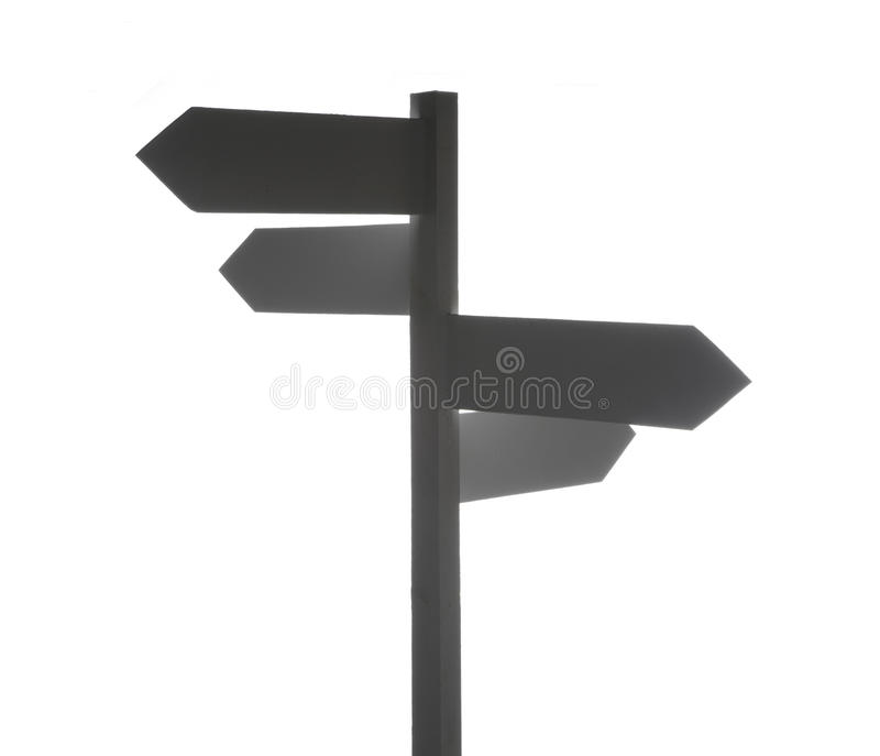 Blank directional signpost royalty free illustration