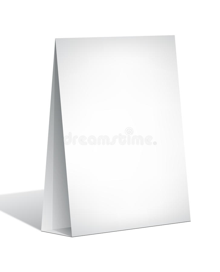 Blank Display Stand. Isolated on white background royalty free illustration