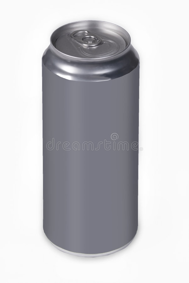 Blank drink can. Blank aluminium drink can on white background royalty free stock photos