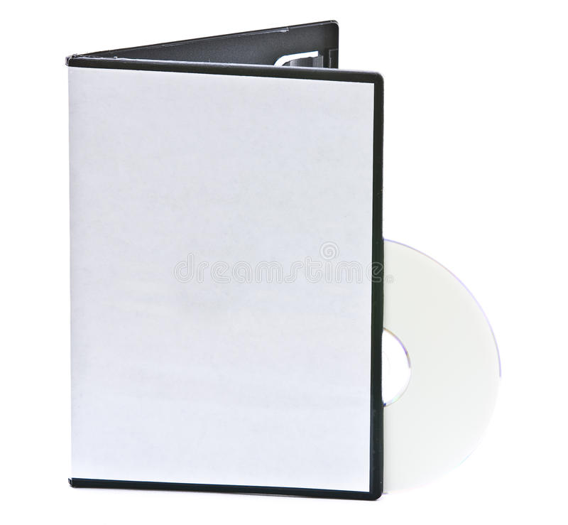 Blank DVD Case And Disc Stock Images