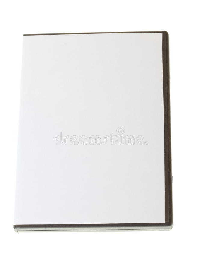 Blank DVD case on white royalty free stock photo