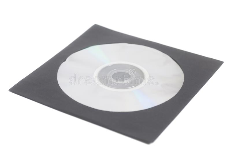Blank DVD CD case and disc royalty free stock image