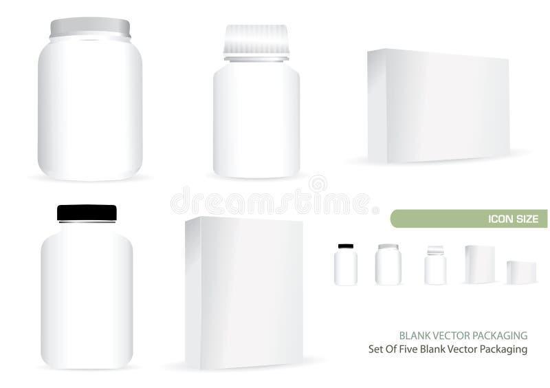 blank emballage vektor royaltyfri illustrationer