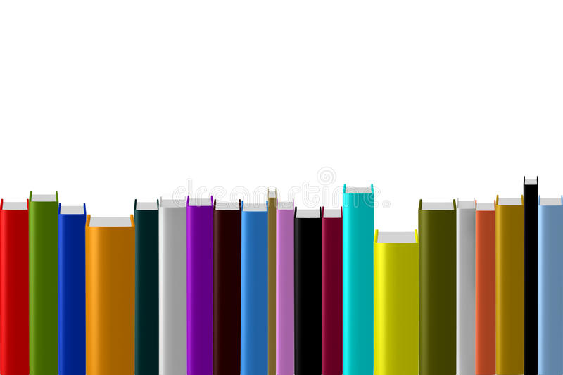 Blank empty cover hardcover book stack collection stock illustration