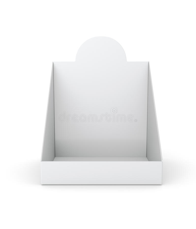 Blank empty holder or box display for products stock images