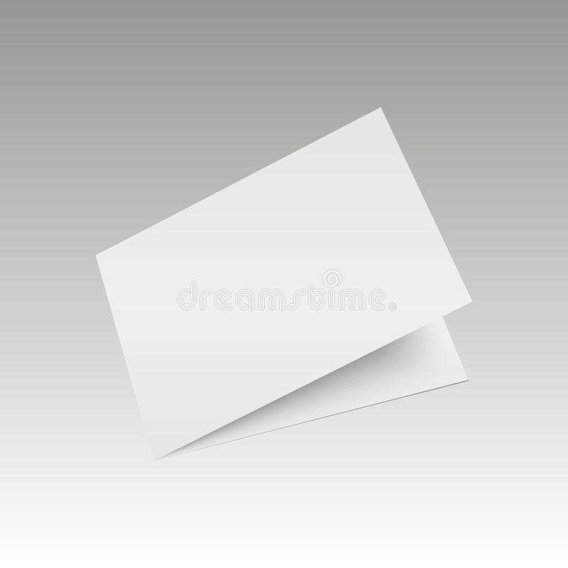 Blank empty magazine or book or booklet, brochure, catalog, leaflet, template on a gray background.  royalty free illustration