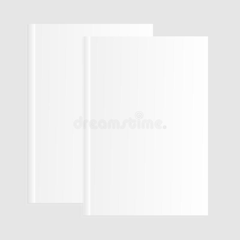 Blank empty magazine or book or booklet, brochure, catalog template on a gray background. vector. ESP 10 royalty free illustration