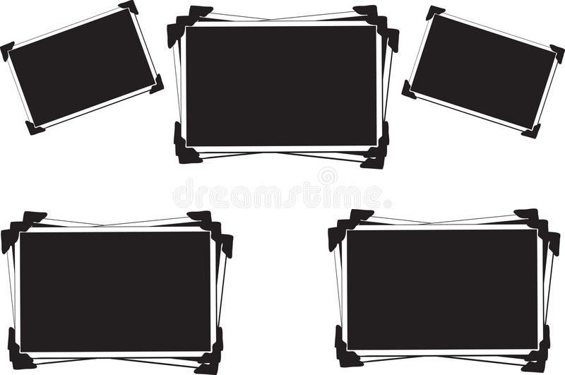 Blank empty photo frames royalty free illustration