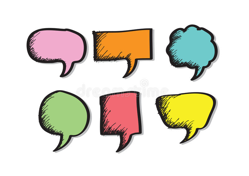 Blank empty speech bubbles. An images of Blank empty speech bubbles vector illustration