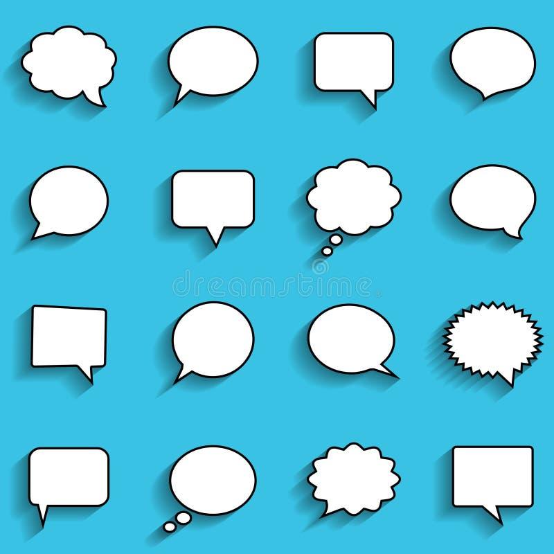 Blank empty white speech bubbles royalty free illustration