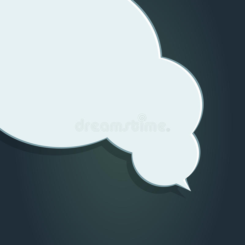 Blank empty white speech bubbles stock illustration