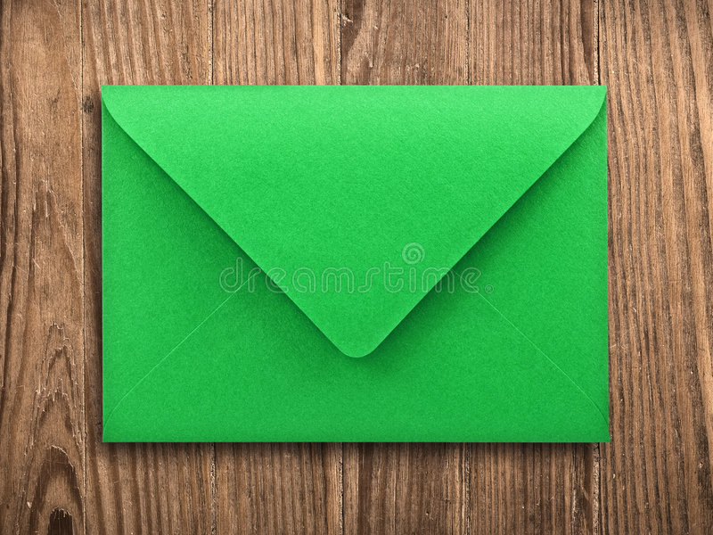 Download Blank Envelope On Old Table, Clipping Path. Stock Photo - Image: 7680860