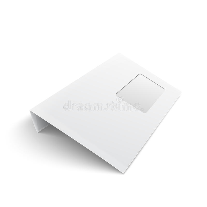 Download Blank Envelope With Window On White Background. Stock Illustration - Image: 33431468