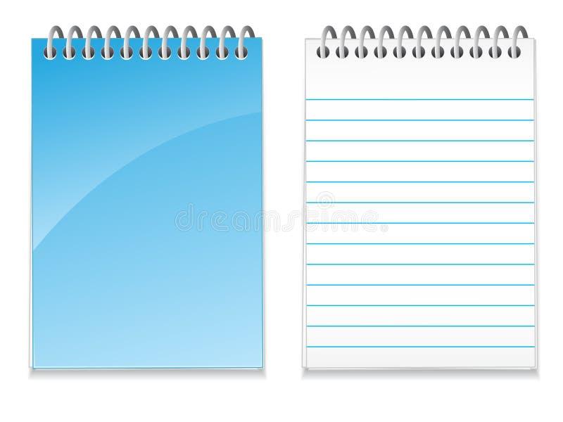 blank eps-anteckningsbok stock illustrationer