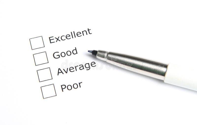 Blank evaluation