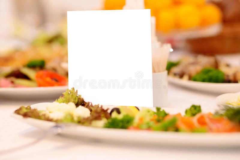 Download Blank Event Guest Card On Restaurant Table Stock Image - Image: 83710803