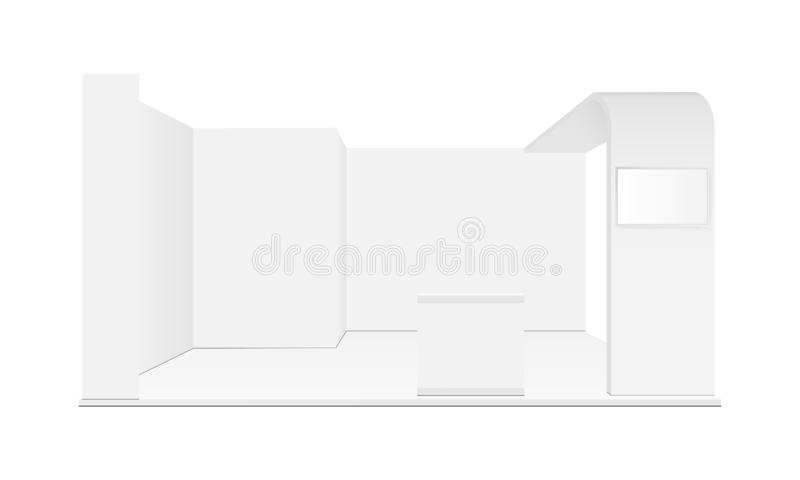 Blank exhibition trade show booth mockup. Vector illustration vector illustration