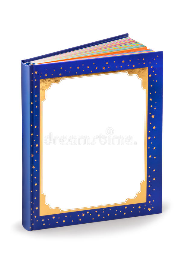 Blank fairytale book cover - clipping path royalty free stock image