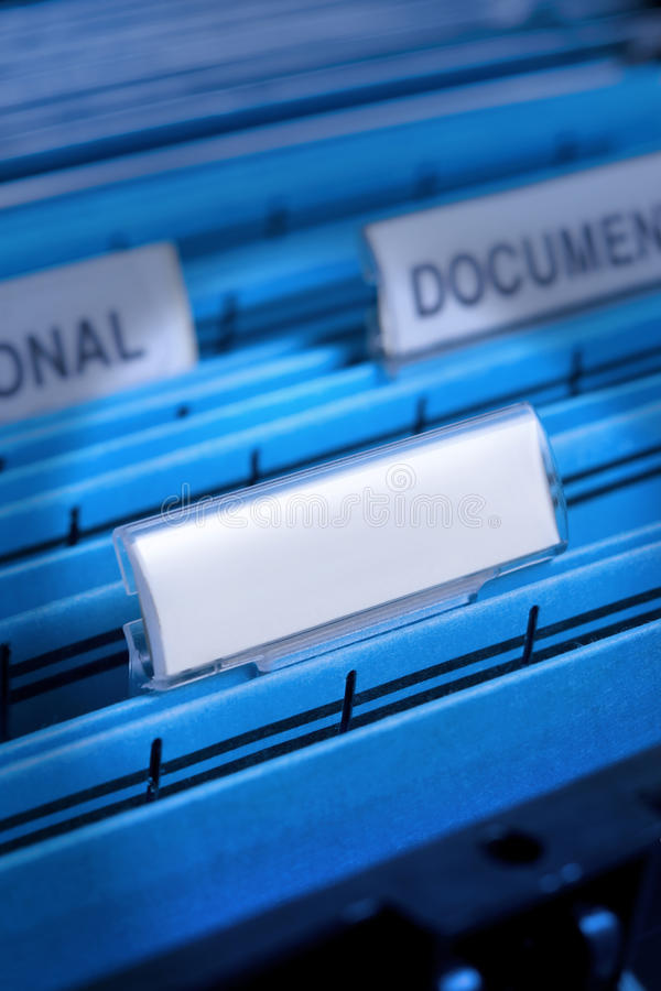Download Blank File In Filing Cabinet Stock Photo - Image: 10955258