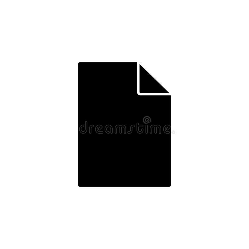 blank file icon. Simple glyph, flat vector of Web icons for UI and UX, website or mobile application royalty free illustration
