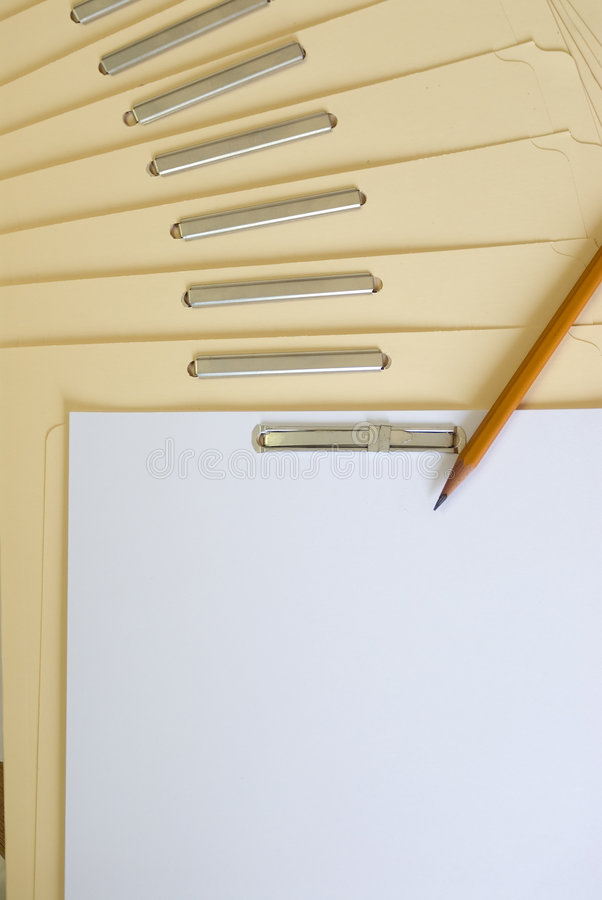 Download Blank Files Folder (place Your Message Here) Stock Image - Image: 1424089