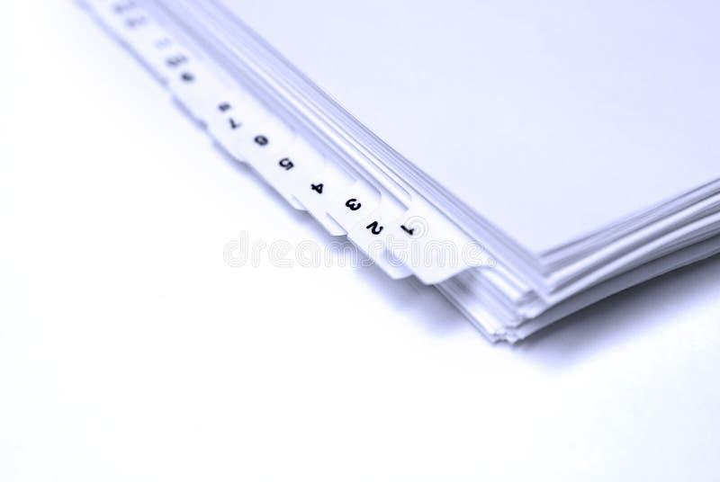 Blank Filings Tabs