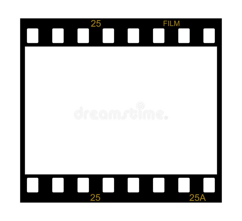 Blank film frame royalty free illustration
