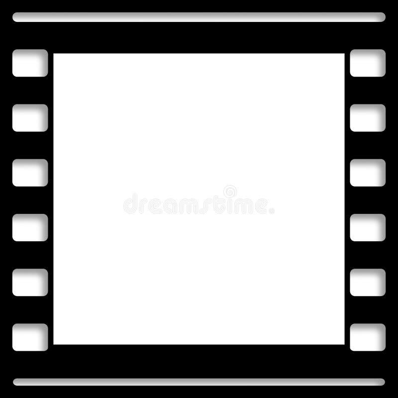 Blank Film Frame Picture Slide Stock Illustration - Illustration of ...