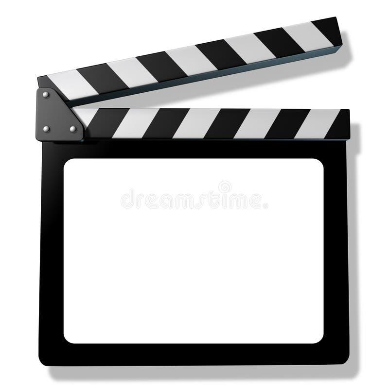Blank Film slate or clapboard royalty free illustration