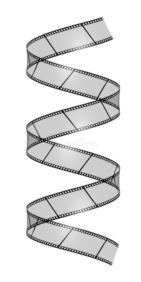 blank filmesspiral vektor illustrationer