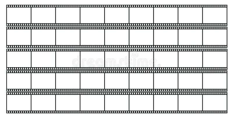 Blank filmstrips illustration stock illustration