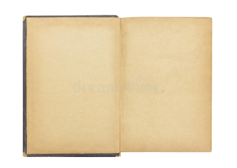 Blank First Page in Vintage Antique Book stock photos