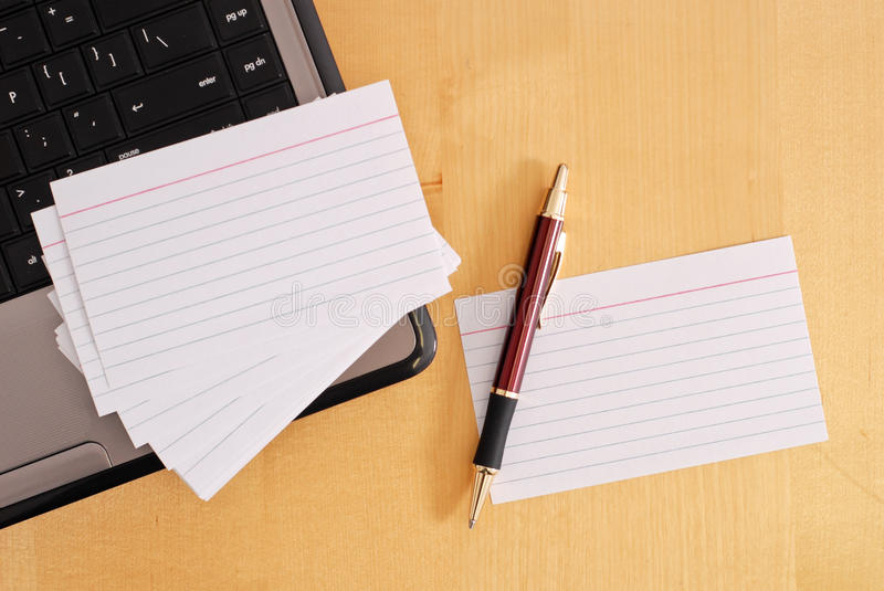 blank flash cards stock photo image of laptop answers